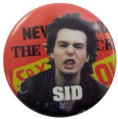 Sex Pistols - 'Sid Never Mind' Button Badge